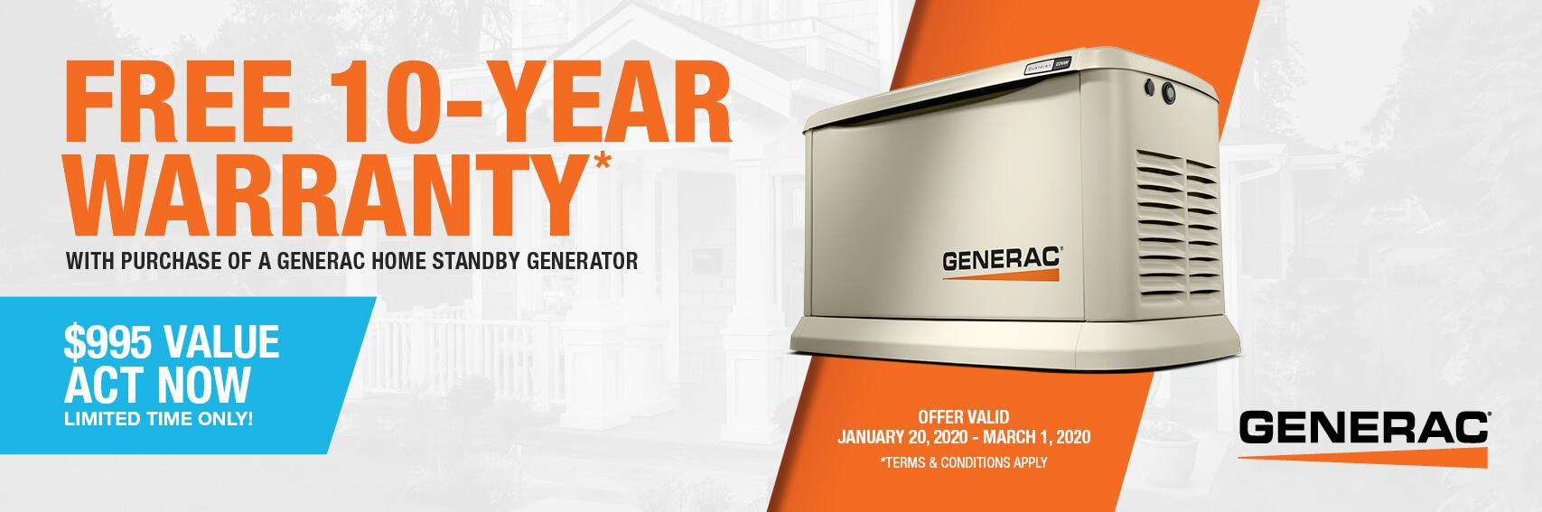 Homestandby Generator Deal | Warranty Offer | Generac Dealer | Panama City Beach, FL